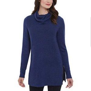 Adrienne Vittadini Cowl Neck Tunic Sweater Small
